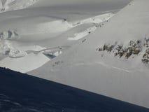 Itinéraire Mont Blanc de trois Monts Photos libres de droits