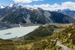 Itinéraire Nouvelle-Zélande de hutte de Mueller Photos libres de droits