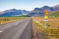 Itinéraire 1 Ring Road Eastern Iceland Scandinavia photographie stock