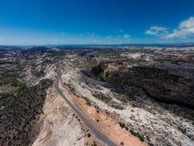 Itinéraire scénique 12Escalante de l'Utah de chemin détourné vers Boulder le dos Photographie stock
