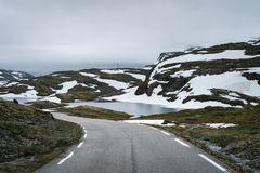 Itinéraire scénique norvégien Aurlandsfjellet Photo libre de droits