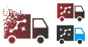 Itinéraire tramé Van Icon de pixel d'étincelle illustration stock