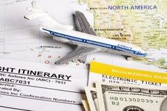 Itinerário do vôo Fotos de Stock Royalty Free