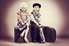 Itinerant musicians Royalty Free Stock Images