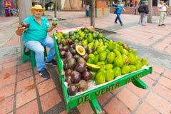 Itinerant owocowy sprzedawca w Medellin Obraz Royalty Free