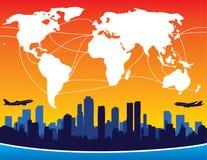 Itinerari di volo internazionale Fotografia Stock Libera da Diritti