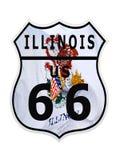 Itinerario 66 Illinois Fotografia Stock