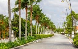Itinerario al palazzo, Terengganu immagini stock