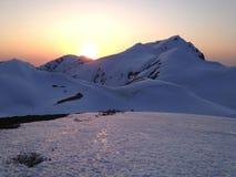 Itinerario alpino di Tateyama Kurobe (alpi del Giappone) Fotografia Stock