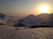 Itinerario alpino di Tateyama Kurobe (alpi del Giappone) Immagine Stock