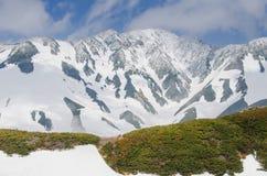 Itinerario alpino nel Giappone Immagine Stock