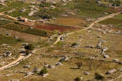Itinerario attraverso l'isola di Hvar Immagine Stock