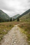 Itinerario attraverso la valle Fotografie Stock