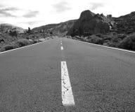 Itinerario in bianco e nero fotografie stock