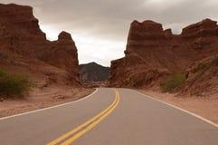 Itinerario 40 del nord, Argentina fotografia stock libera da diritti