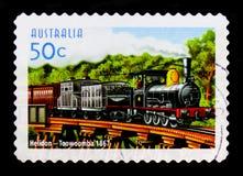 """Itinerario del treno di Toowoomba del †di Helidon """", 150th Anniv del serie australiano delle ferrovie, circa 2004 Fotografia Stock"""