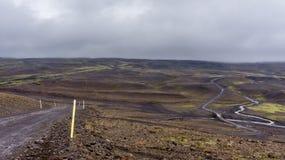 Itinerario dell'altopiano di Kjölur Fotografia Stock
