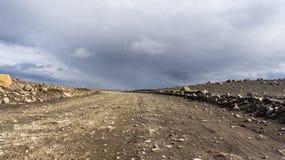 Itinerario dell'altopiano di Kjölur Fotografie Stock Libere da Diritti