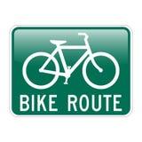 Itinerario della bici Fotografia Stock