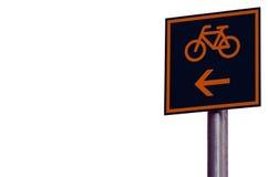 Itinerario della bici Immagine Stock