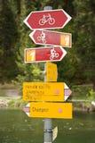 Itinerario della bicicletta Fotografia Stock Libera da Diritti