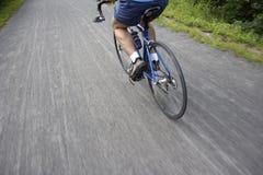 Itinerario della bicicletta Fotografia Stock