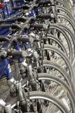 Itinerario della bicicletta in Quebec Fotografia Stock