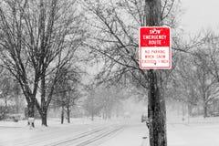 Itinerario della neve Fotografie Stock Libere da Diritti