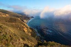 Itinerario 1 dello stato in California Fotografia Stock