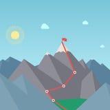 Itinerario di alpinismo. Concetto di risultato di scopo royalty illustrazione gratis
