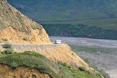 Itinerario di bus di Denali Fotografia Stock
