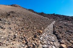 Itinerario di paesaggio sul supporto Teide immagine stock libera da diritti