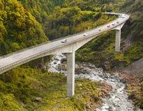 Itinerario di TranzAlpine, Nuova Zelanda Fotografia Stock Libera da Diritti