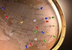 Itinerario di viaggio Fotografia Stock