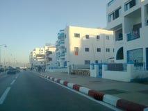 Itinerario nel m'diq della città, Marocco Immagine Stock
