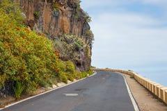 Itinerario pericoloso vicino a Punto Teno, Tenerife Immagini Stock