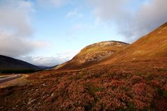 Itinerario scenico della costa del nord 500 Altopiani scozzesi fotografia stock libera da diritti