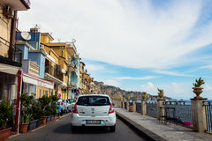 Itinerario scenico di Giardini Naxos, Sicilia Immagini Stock Libere da Diritti