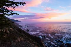 Itinerario 1, Stati Uniti di California Fotografia Stock
