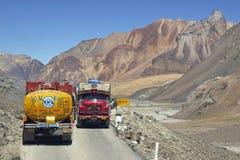 Itinerario terrestre a Leh in Ladakh Immagini Stock Libere da Diritti
