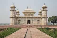 Itmad-Ud-Daulah`s tomb in Agra, Uttar Pradesh, India. Also known royalty free stock image