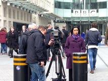 ITN που υποβάλλει έκθεση σχετικά με το Jeremy Clarkson Στοκ Φωτογραφία