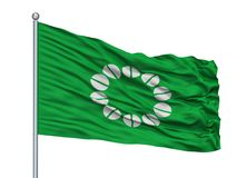 Ito City Flag On Flagpole, Japão, Shizuoka, isolado no fundo branco Ilustração Royalty Free