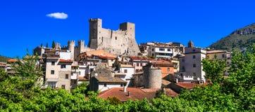 Itri - beautiful medieval villageborgo in Lazio region, Italy Royalty Free Stock Photo