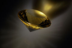 Сitrine. Close-faceted citrine round shape Stock Photos