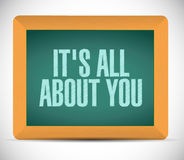 its all about you board sign message Stock Photo