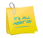 its all about you memo post message Royalty Free Stock Images