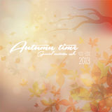 Its Autumn time Typography. / colour background in retro / vintage Royalty Free Stock Photography