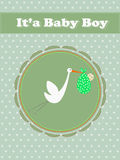 Its a Baby Boy, stork with a baby Royalty Free Stock Photo