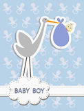 Its a Baby Boy, stork with a baby Stock Photo